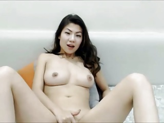 Asian Chinese Hot Girl Fingering in Webcam, great Tits