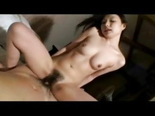 Sexy pretty Japanese MILF's hot hairy cunt creampied