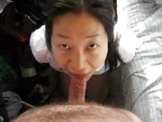 amateur submissive Asian Wife swallows load